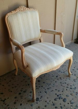 French country white washed upholstered chair for Sale in Riverside, CA