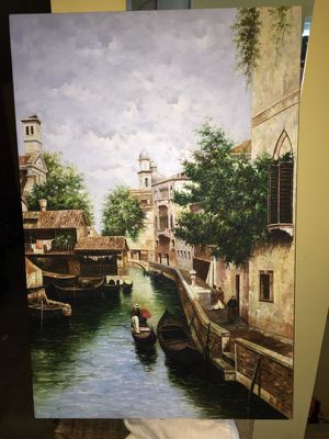 Large Canvas Painting Venice for Sale in North Bethesda, MD