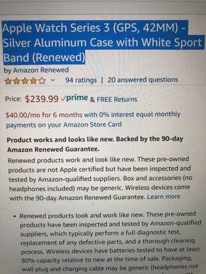 Apple Watch Series 3 - 42MM for Sale in Herriman, UT