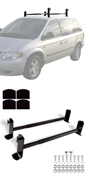 New in box roof mount van ladder cross bar rack adjustable 2 bars with hardwares for Sale in Pico Rivera, CA