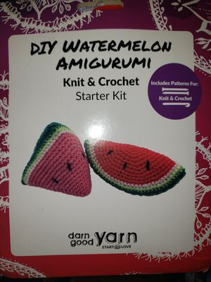 DIY Knit or Crochet watermelon kit for Sale in St. Petersburg, FL