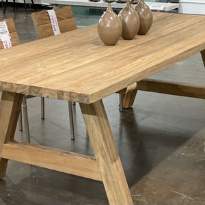 New Solid Teak Dining Table Indoor / Outdoor for Sale in Los Angeles, CA