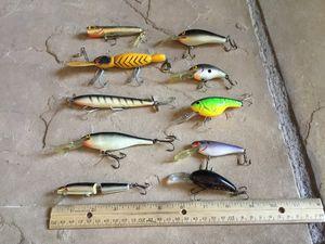 Vintage 1990s fishing lures ~ 10 lot ~ Please Read Description for Sale in Phoenix, AZ