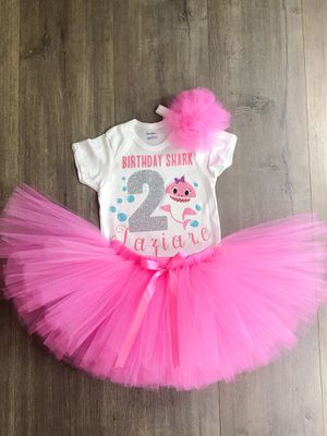Baby shark Birthday outfit for Sale in San Antonio, TX
