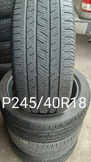 CONTINENTAL P245/40R18 SET 75%100 for Sale in Salt Lake City, UT