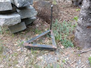 Snow plow dolly, concrete blocks, galvanized edge for Sale in Stetson, ME