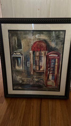 Picture with vintage Phone Booth & Bike for Sale in Arlington, TX