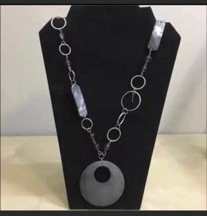 Silver links shell fragment necklace for Sale in South Plainfield, NJ