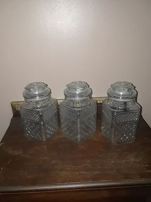 Large vintage glass canister jars for Sale in Melbourne Village, FL