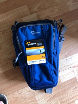 Lowepro Toploader Zoom 55 AW II Camera Case for DSLR and Lens, Blue for Sale in San Diego, CA