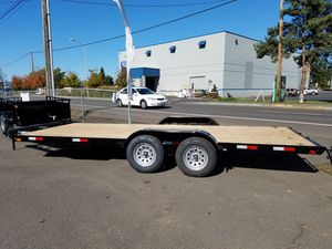 7x18 7K Flat bed trailer with Ramps and D-rings Brand new for Sale in Cornelius, OR