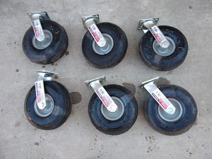 "6 swivel 10"" caster wheels for Sale in Stockton, CA"