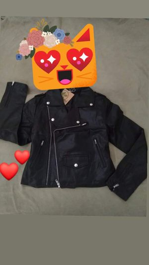 Women's jacket brand New with tags size M simulation leather for Sale in Chula Vista, CA