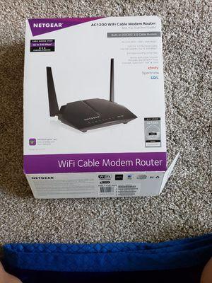 WiFi cable modem router (netgear) for Sale in Shreveport, LA