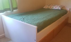 Twin bed frame, with drawers for Sale in Escondido, CA