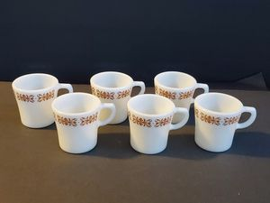 6 Pyrex Copper Filigree Pattern Mugs for Sale in Midland, MI
