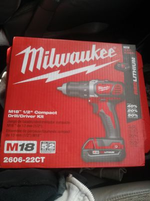 "Milwaukee M12 1/2"" Compact Drill / Driver Kit for Sale in Pawtucket, RI"