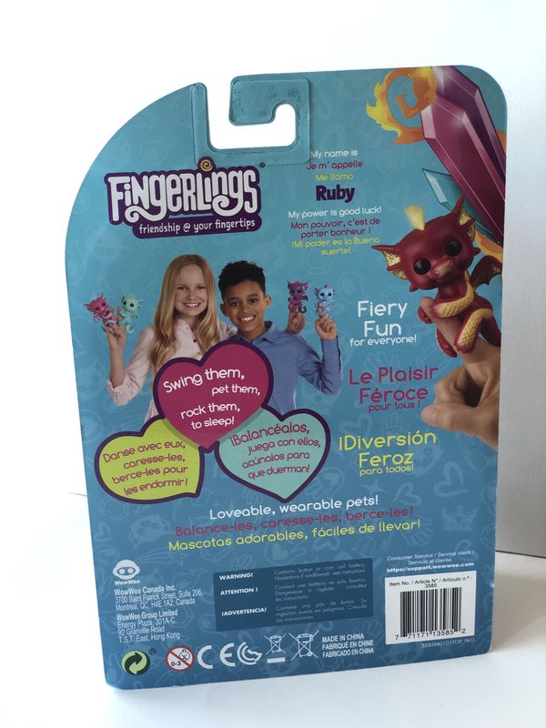 Fingerlings RUBY interactive baby dragon-NEW