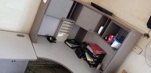 GREY OFFICE DESKS AND FILE CABINETS for Sale in Annapolis, MD