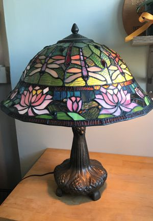 2 light antique Tiffany-style table lamp for Sale in San Francisco, CA