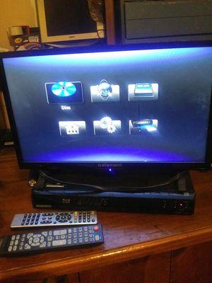 Tv+blubray player for Sale in Lynchburg, VA