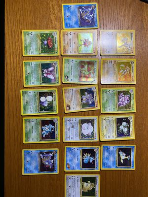 17 wotc holo pokemon card lot - read for Sale in Raleigh, NC