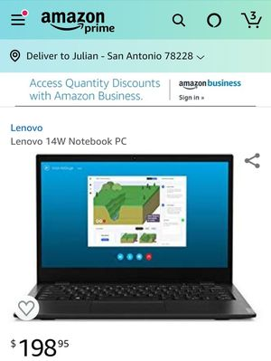 "New Lenovo 14"" Laptop - 4GB, Full HD Screen, 64GB HD for Sale in San Antonio, TX"
