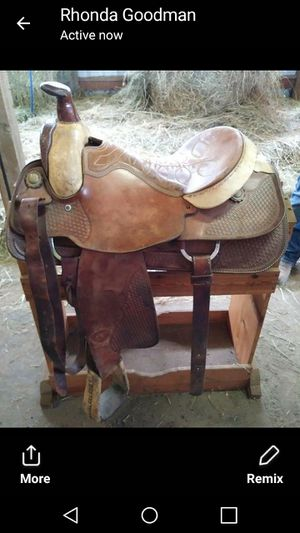 16 inch Herford Textan saddle for Sale in US