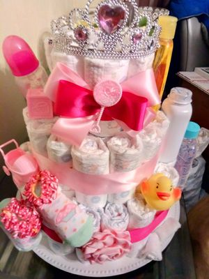 Cake Diapers for baby girl New for Sale in Hartford, CT