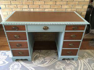 Refinished Slightly Distressed Knee Hole Desk for Sale in Charlottesville, VA