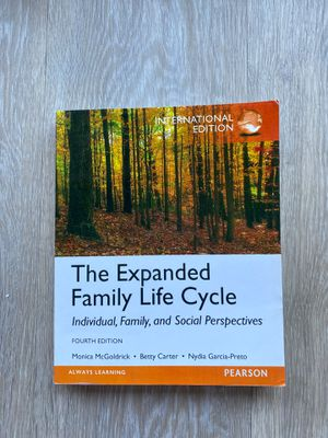Psychology Book (The Expanded Family Life Cycle) for Sale in Tustin, CA