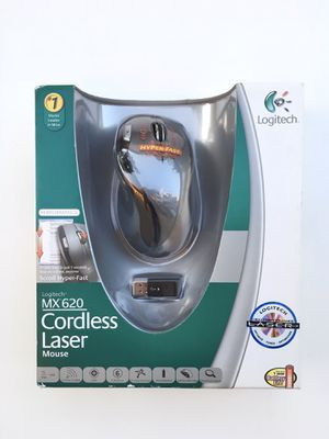 Logitech MX620 Black Cordless Wireless Laser Mouse NEW IN BOX MX620 910-000240 for Sale in Rancho Cucamonga, CA