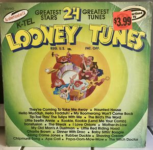 Vintage K-TEL Compilation LP Record 24 Looney Tunes 1976 for Sale in Clovis, CA
