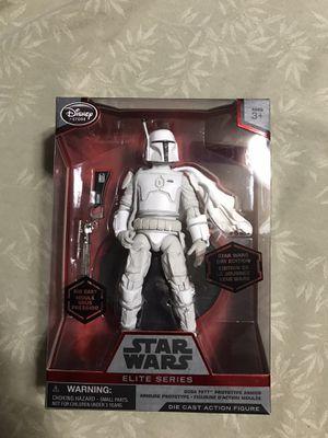 Star Wars Boba Fett White Prototype Armor Disney Store Elite Series Die-Cast for Sale in Torrance, CA