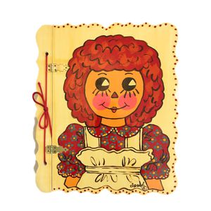 Rare Vintage Raggedy Ann Empty Large Signed By Claudel Self Adhesive Photo Album for Sale in Rancho Cucamonga, CA