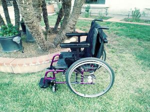 Quicke 2 adult folding aluminum quick release wheels wheelchair large for Sale in San Dimas, CA