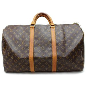 Authentic Louis Vuitton Keepall 50 M41426 Brown Monogram Boston Bag 11390 for Sale in Plano, TX