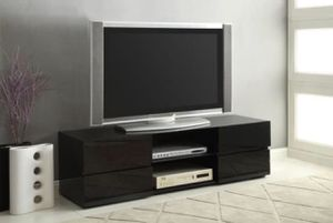 GLOSSY BLACK TV STAND new in box for Sale in Hialeah, FL