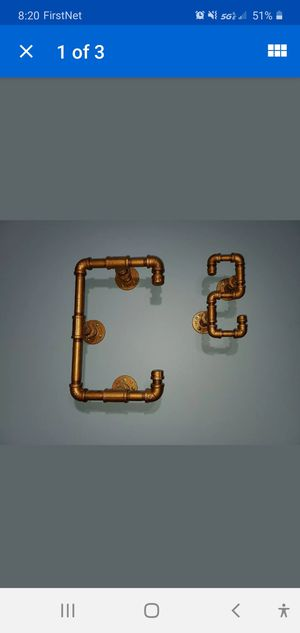Copper Decorative Handmade Piping Letter C and #2. for Sale in Aurora, IL