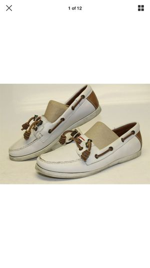Hunter Womens 7 White Leather Casual Flats Boat Deck Shoes for Sale in La Habra, CA