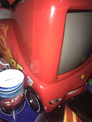 Lighting McQueen tv with remote for Sale in Corpus Christi, TX