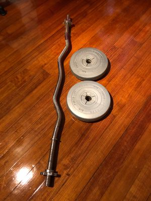 CURLING CURL BAR WEIGHTS WORKOUT Barbells for Sale in Peabody, MA