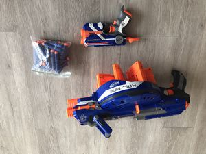 Electric Nerf gun with little one shooter and darts for Sale in Plantation, FL