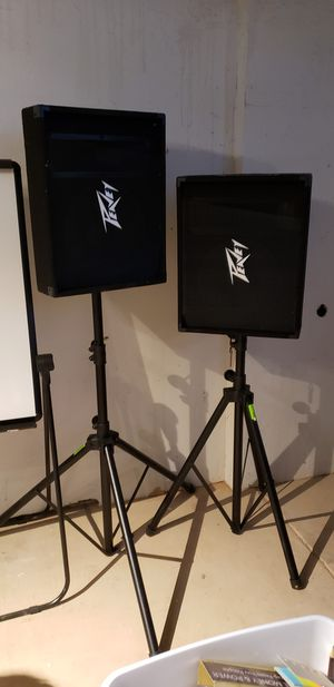 "2 Peavey pv12m audio DJ 500 w 12"" w stands for Sale in Paradise Valley, AZ"