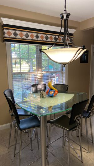 6 Piece Kitchen/Dinette Tempered Glass Table Set for Sale in Chesapeake, VA