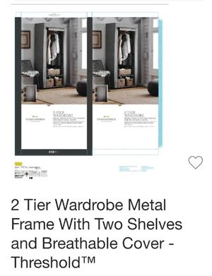 BRAND NEW 2 TIER METAL WARDROBE for Sale in Fort Myers, FL