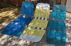 Vintage Beach Chairs, Lake, Pool, River, Camping, RV, Retro for Sale in Peoria, AZ