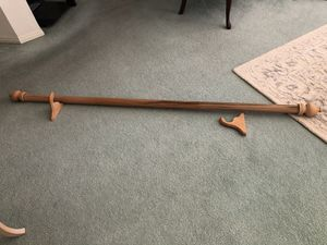 Wood Curtain rod and brackets for Sale in Upland, CA