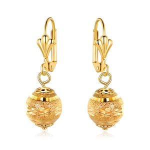 Gold plated diamond cut ball drop earrings for Sale in Brooklyn, NY