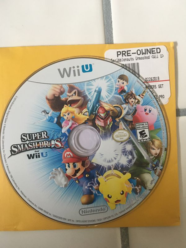 Nintendo Wii U complete with smash brothers and Mario 3D